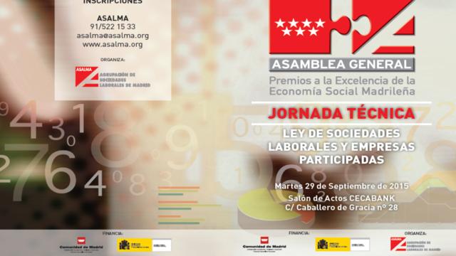 ASALMA, celebra su Asamblea General y la X Edición a los Premios de la Excelencia de la Economía Social Madrileña